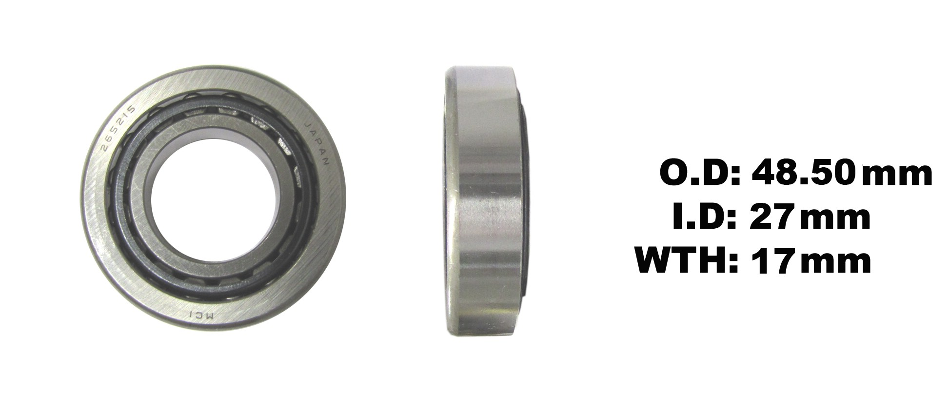 Fits Honda CB 175 K (Twin) (UK) 1970-1971 Taper Bearing - Bottom (Each)