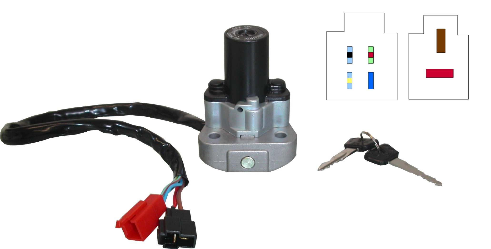Yamaha-FZR-1000-RU-EXUP-EU-1994-1995-Ignition-Switch-Each-4JH-82501-03