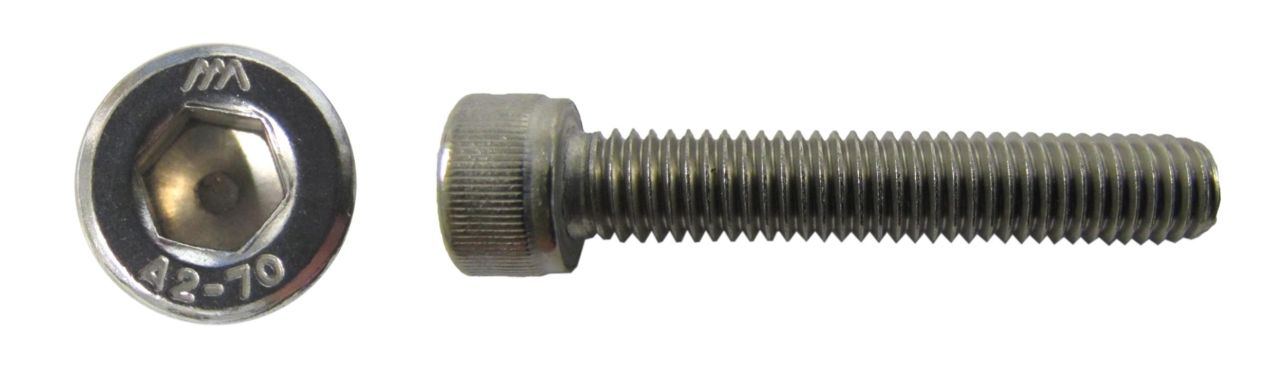 Screws Allen Stainless Steel 8mm x 50mm Per 20 Pitch 1.25mm