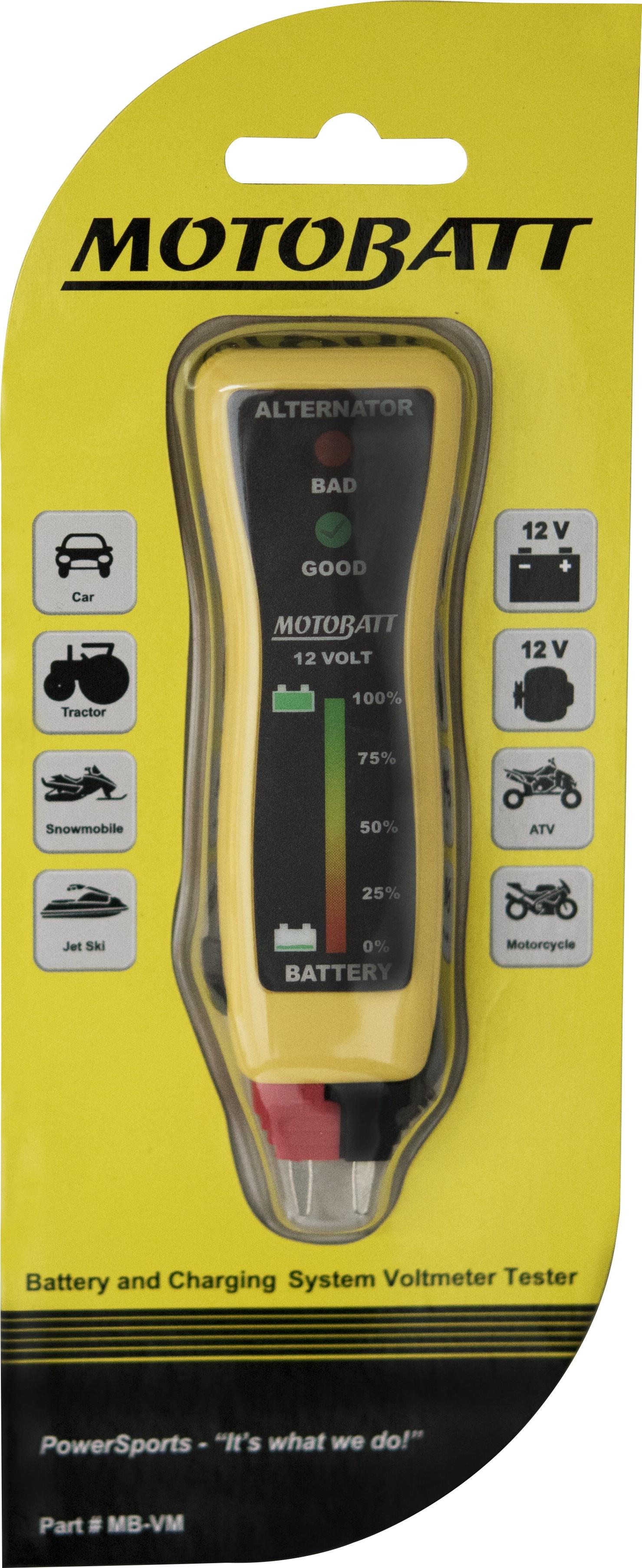 motobatt pocket voltmeter 12v battery remote testing via. Black Bedroom Furniture Sets. Home Design Ideas