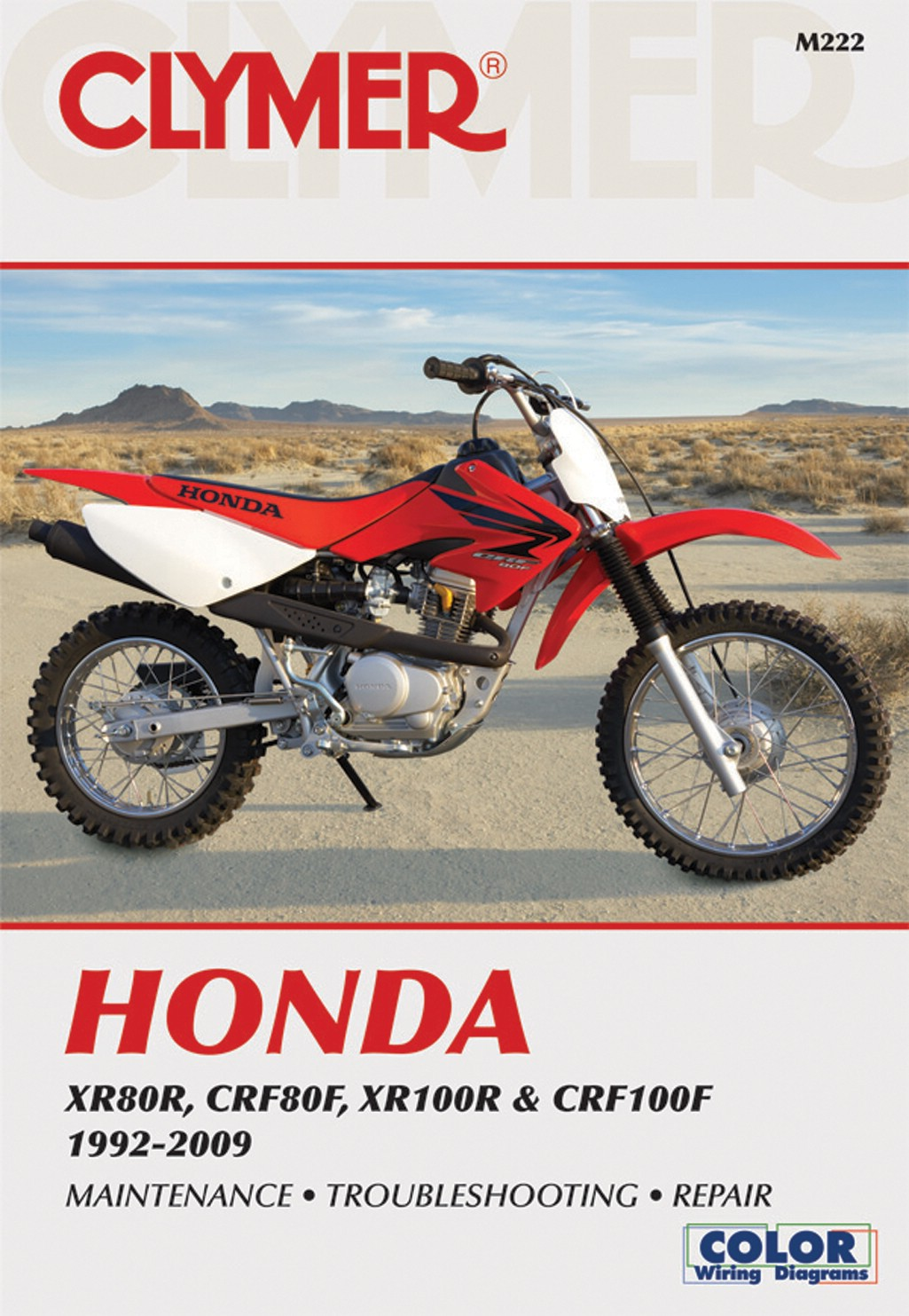 clymer manual fits honda xr80r,crf80f,xr100r & crf100f 92 09 (each honda