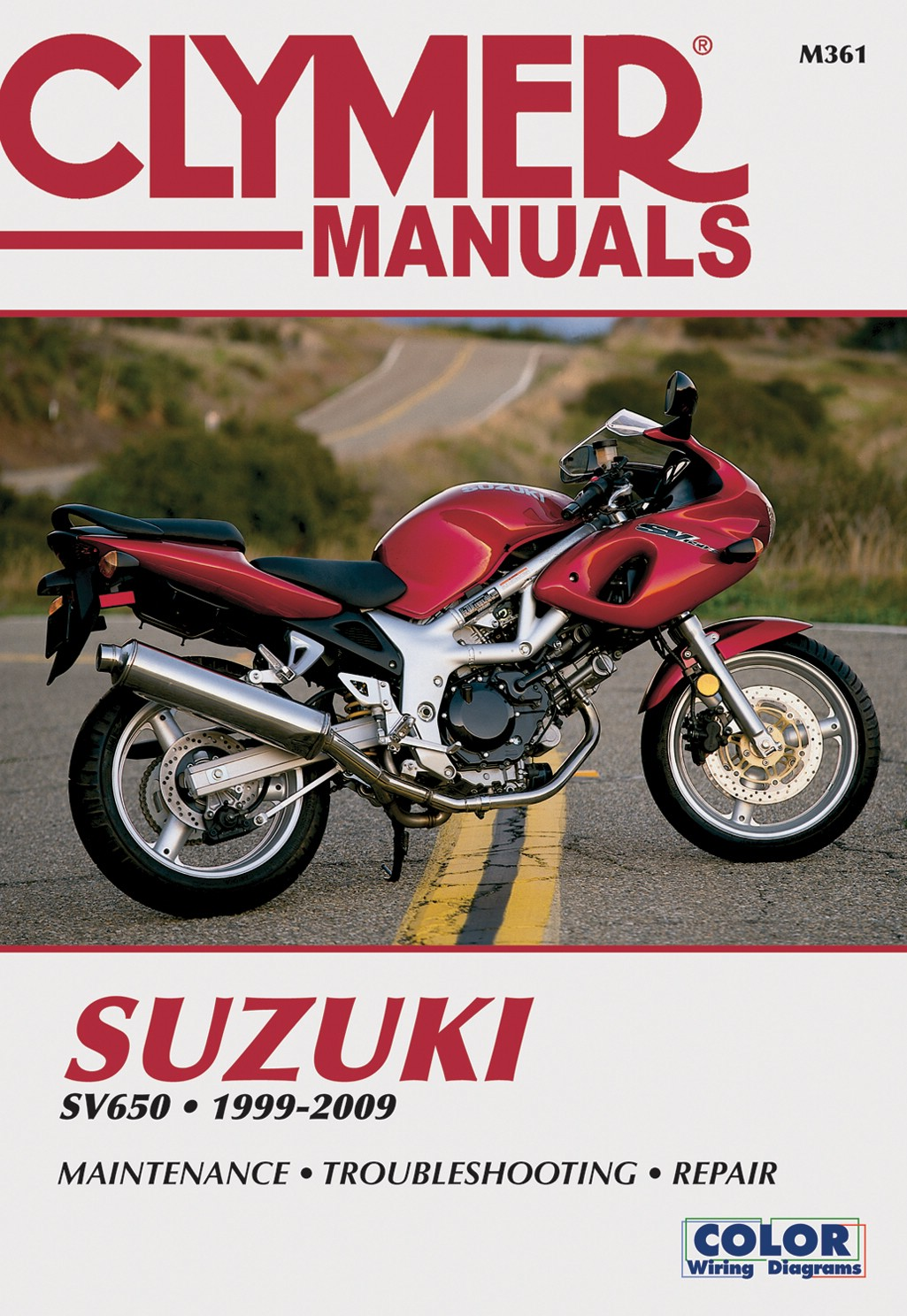 clymer manual suzuki sv650 99 08 each ebay rh ebay co uk suzuki sv 650 service manual pdf sv 650 repair manual