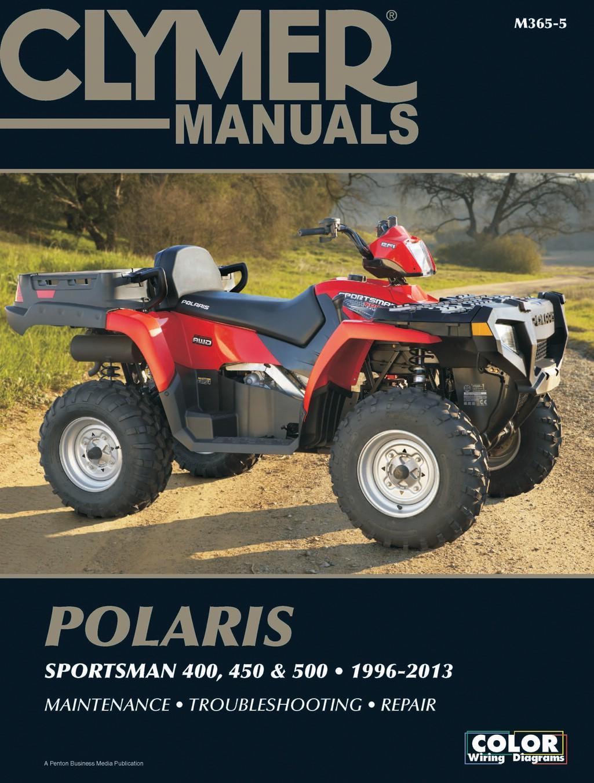 Polaris 500 Sportsman X2 Efi Usa 2007 2009 Manuals Clymer Wiring Diagram