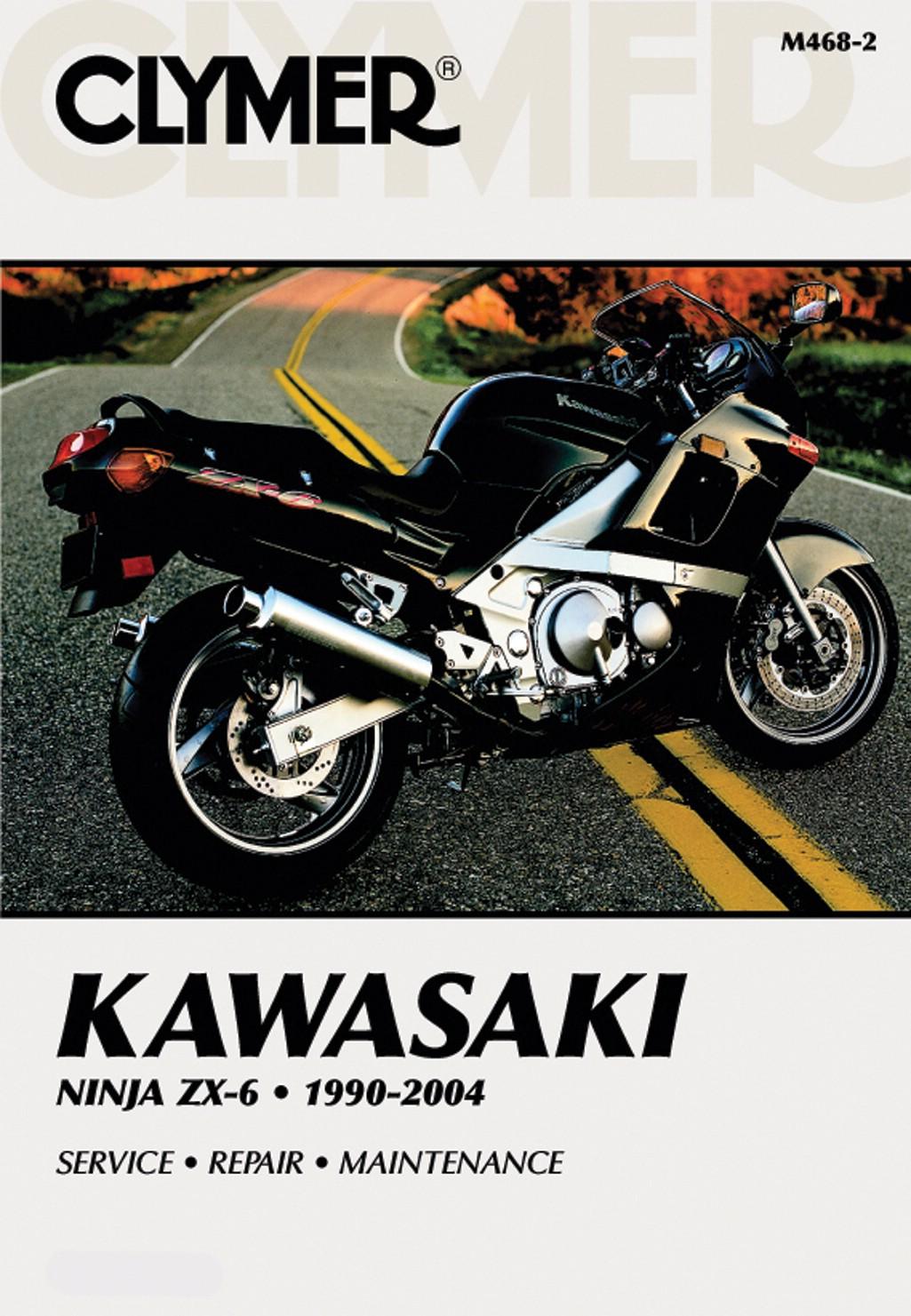 Image is loading Clymer-Manual-Kawasaki-Ninja-ZX6-90-04-Each