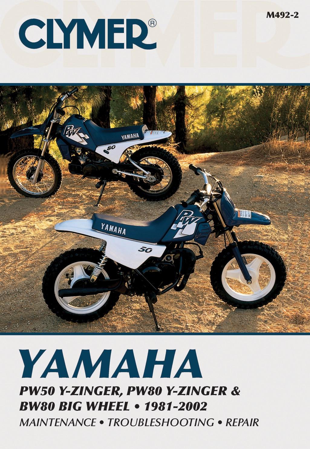 clymer manual yamaha pw50 80y zinger bw80 big wheel 81 02 each rh ebay co  uk 1996 Yamaha PW50 1998 Yamaha YZF600R