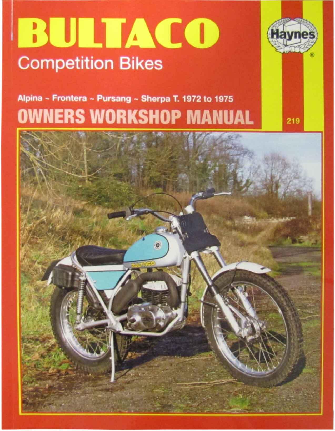 Image is loading Haynes-Manual-Bultaco-Alpina-Frontera-Pursang-Sherpa-T-