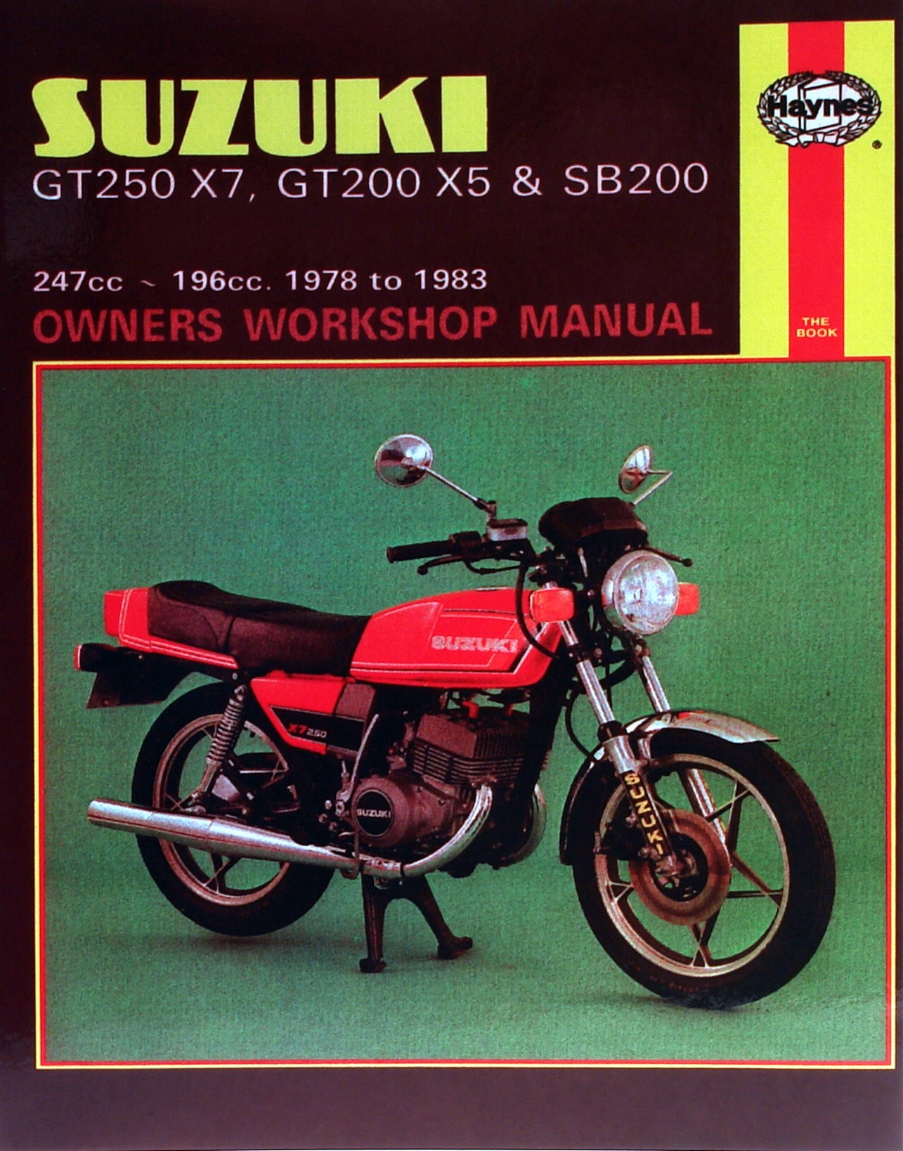 haynes manual suzuki gt200 x5 sb200 gt250 x7 79 83 each ebay rh ebay co uk Suzuki GT 185 suzuki gt 250 owners manual