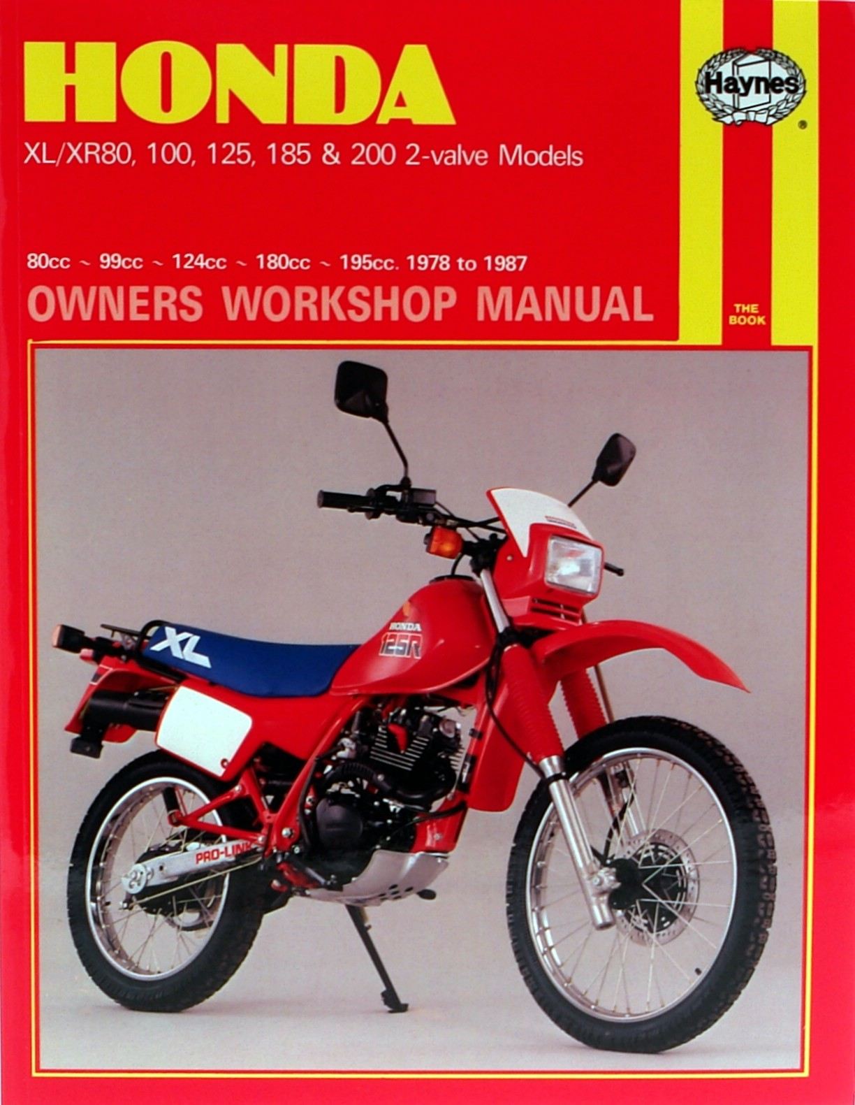 haynes manual fits honda xl100 xl125 xl185 xr80 xr200 78. Black Bedroom Furniture Sets. Home Design Ideas