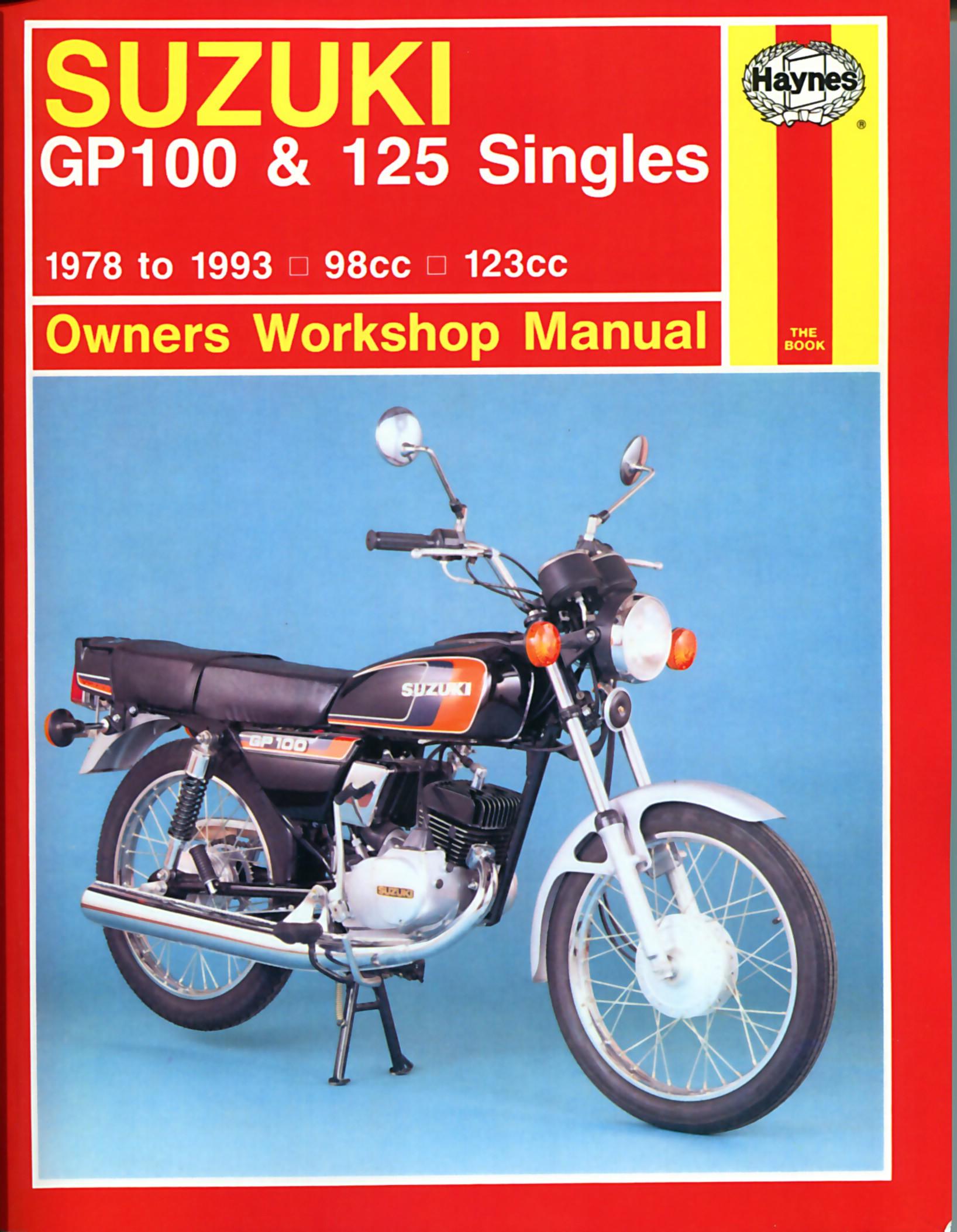 Image is loading Haynes-Manual-Suzuki-GP100-GP125-78-93-Each