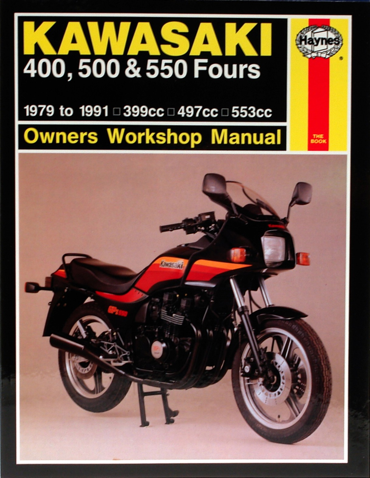 Image is loading Haynes-Manual-Kawasaki-Z400-ZX400-ZR400-Z550-KZ550-