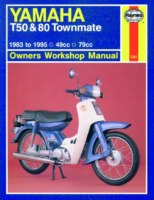 haynes manual yamaha t50 t80 townmate 83 95 each ebay rh ebay co uk Yamaha T50 Propeller yamaha townmate t50-t80 service manual
