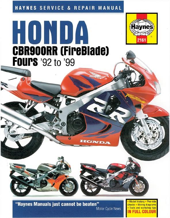 Other Motorcycle Manuals Haynes Manual Fits Honda CBR900RRN-RRX ...