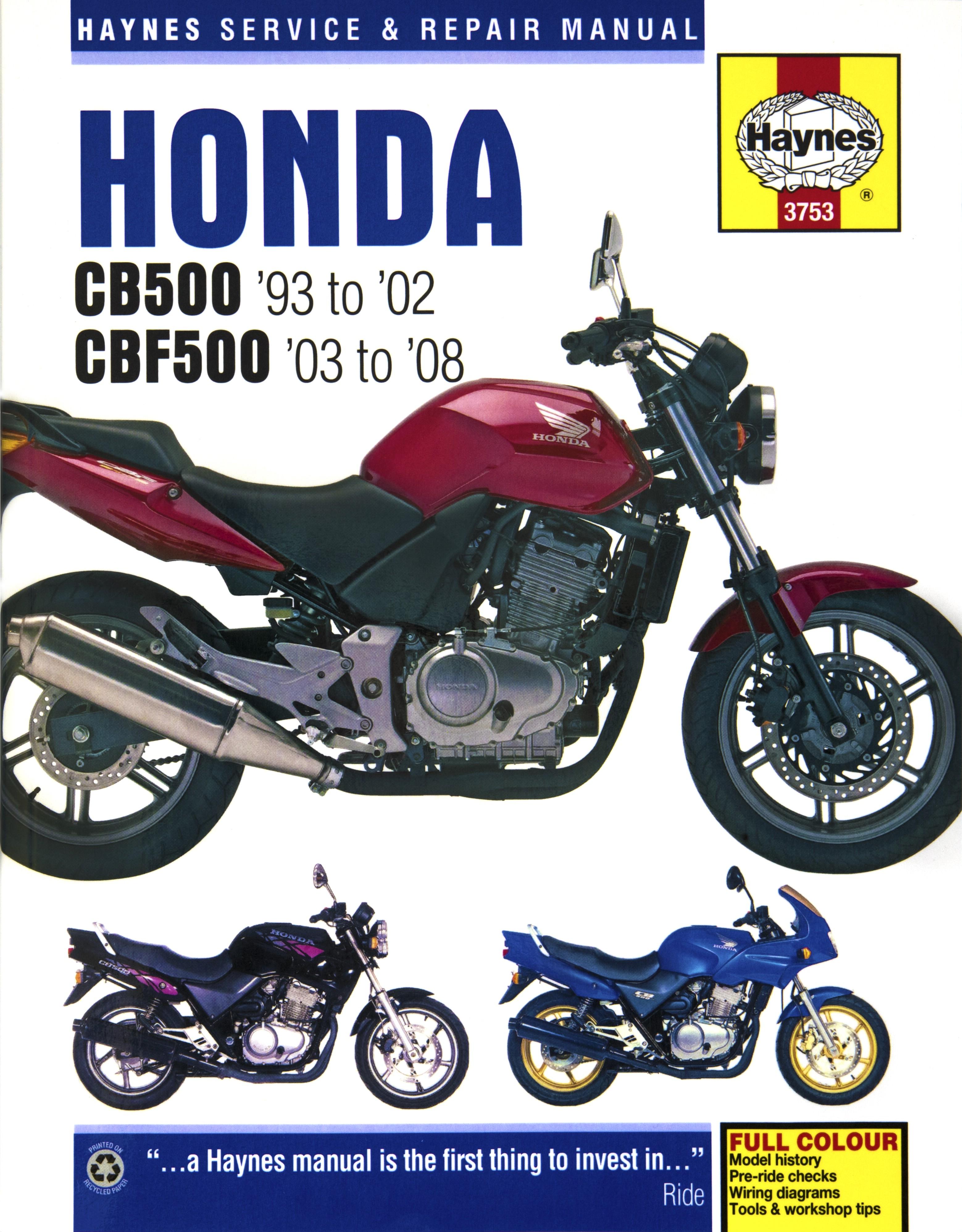 fits honda cb 500 s twin 499cc uk 1998 2002 manuals haynes rh ebay co uk honda manuals honda manuals motorcycle
