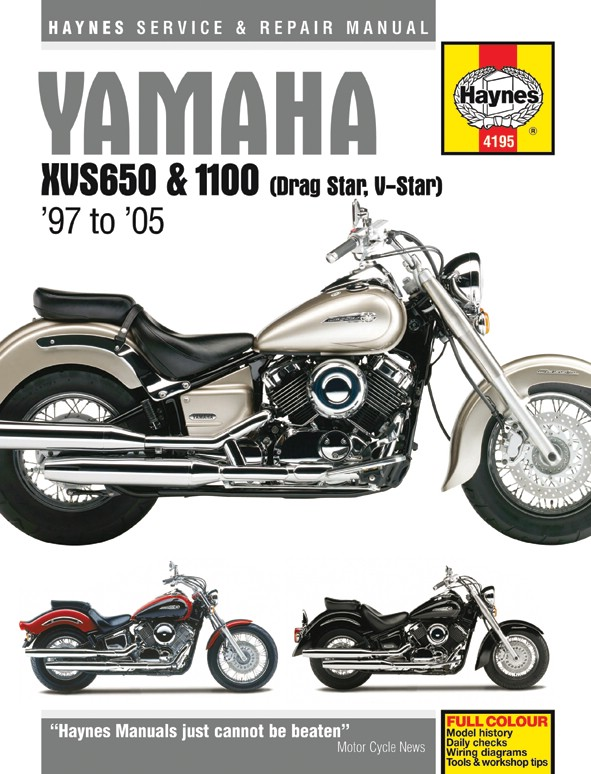 Details about Yamaha XVS 1100 A Dragstar Clic (Europe) 2000-2006 Manuals on