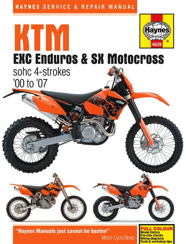 ktm 520 exc racing europe 2000 2002 manuals haynes each ebay rh ebay co uk