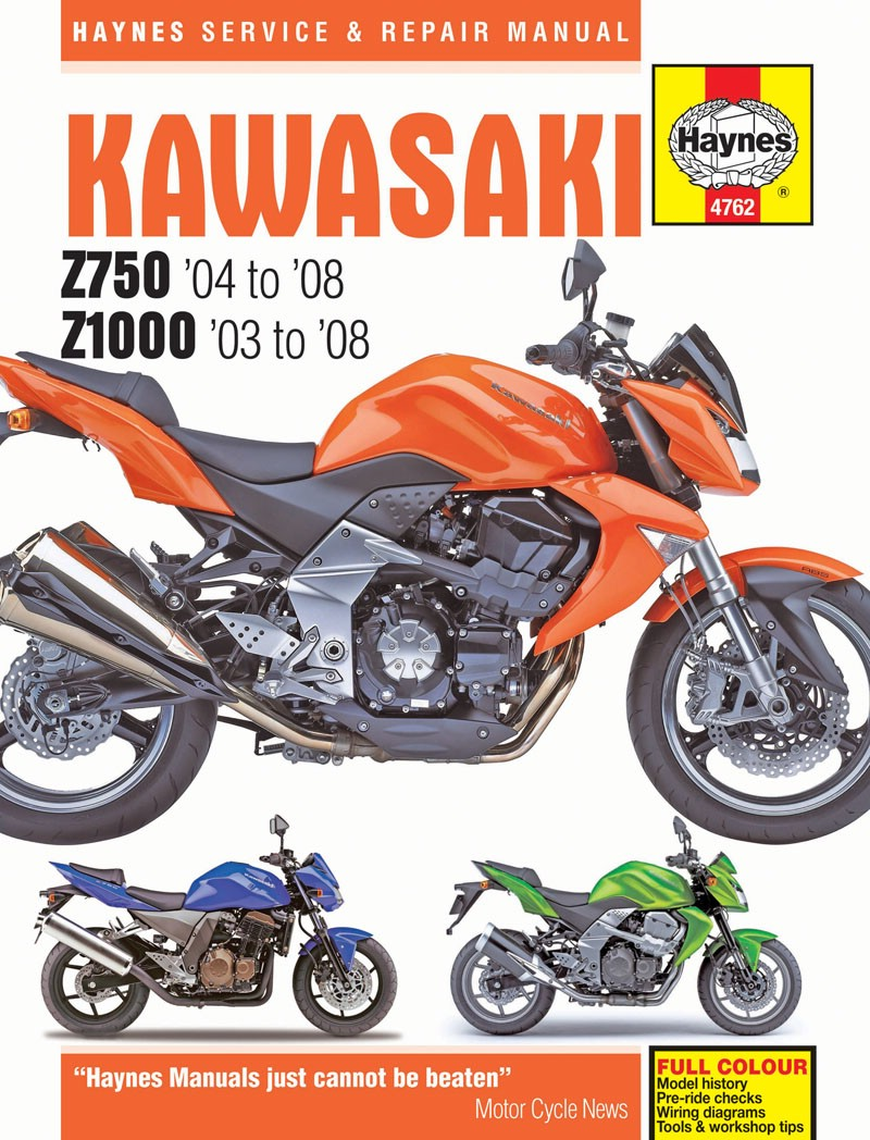 Kawasaki Z 750 (ZR750J) 2004-2006 Manuals - Haynes (Each)