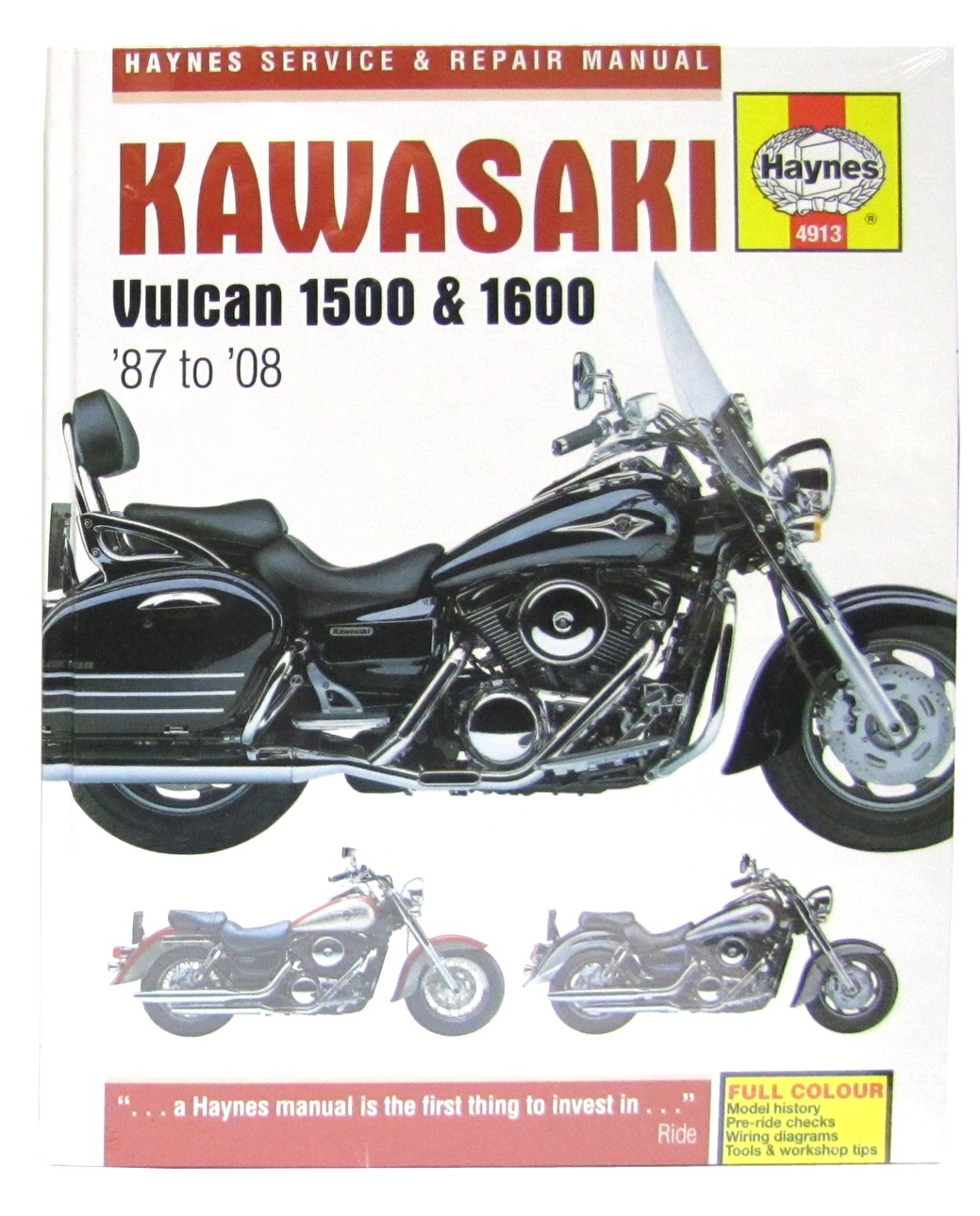 haynes manual kawasaki vulcan 1500 1600 1700 87 08 each ebay rh ebay co uk  1996 Kawasaki Vulcan 1500 Specs 1996 Kawasaki Vulcan 1500 Review